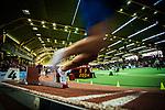 18.02.2018,  Helmut-K&ouml;rnig-Halle, Dortmund, GER, Deutsche Leichtathletik Meisterschaften Dortmund 2018, <br /> <br /> im Bild | picture shows:<br /> 200 m der M&auml;nner, Vorl&auml;ufe mit Maurice Huke (TV Wattenscheid 01), <br /> <br /> <br /> Foto &copy; nordphoto / Rauch