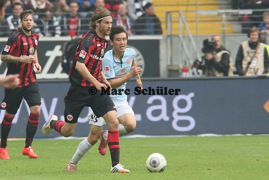 Martin Lanig (Eintracht) gegen Ja-Choel Koo (Mainz) - Eintracht Frankfurt vs. 1. FSV Mainz 05