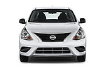 Car photography straight front view of a 2015 Nissan Versa 1.6 Sv Cvt 4 Door Sedan