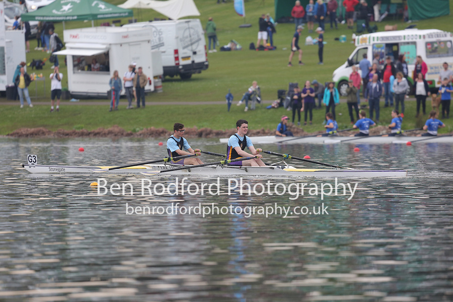 Race: 87  Event: J15 2x   Final B <br /> <br /> Junior Inter Regional Regatta 2018<br /> <br /> To purchase this photo, or to see pricing information for Prints and Downloads, click the blue 'Add to Cart' button at the top-right of the page.