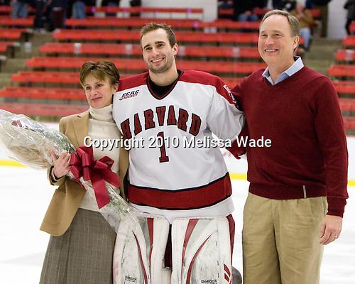 Deborah Riley, John Riley (Harvard - 1), ? - The Colgate University Red Raiders defeated the Harvard University Crimson 4-2 (EN) on Saturday, February 20, 2010, at Bright Hockey Center in Cambridge, Massachusetts.