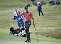 Rafa Cabrera-Bello (ESP) jubilant at making birdie on the last and the weekend,  during Round Two of the 100th Open de France, played at Le Golf National, Guyancourt, Paris, France. 01/07/2016. Picture: David Lloyd | Golffile.<br /> <br /> All photos usage must carry mandatory copyright credit (&copy; Golffile | David Lloyd)