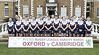 Oxford team photo during the Pcubed Rugby League Varsity game between Oxford and Cambridge University at the HAC Ground, London, on Fri March 3, 2017