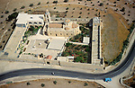 Judean desert, an aerial view of the Greek Orthodox St. Theodosius Monastery