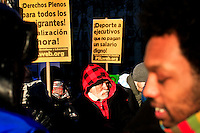 Immigrants Protest during the International Migrants Day as they receive support by Occupy Wall Street members in New York, United States. 18/12/2011.  Photo by Eduardo Munoz Alvarez / VIEWpress.