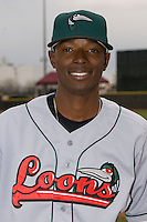 Devaris Gordon #5 of the Great Lakes Loons at Fifth Third Field April 22, 2009 in Dayton, Ohio. (Photo by Brian Westerholt / Four Seam Images)