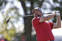 Ryan Moore (Team USA) on the 2nd tee during the Friday afternoon Fourball at the Ryder Cup, Hazeltine national Golf Club, Chaska, Minnesota, USA.  30/09/2016<br /> Picture: Golffile | Fran Caffrey<br /> <br /> <br /> All photo usage must carry mandatory copyright credit (&copy; Golffile | Fran Caffrey)