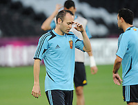 Football - Spain Training - Donbass Arena, Donetsk, Ukraine - 22/6/12..Spain's Andres Iniesta during training..Mandatory Credit: Action Images / Henry Browne..Livepic