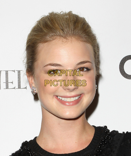 "EMILY VanCAMP.""Coco Before Chanel"" Los Angeles Premiere held At The Pacific Design Center Silver Screen Theatre, West Hollywood, California , USA, .9th September 2009..portrait headshot hair up smiling  black silver diamond stud earrings flower .CAP/ADM/KB.©Kevan Brooks/Admedia/Capital Pictures"