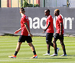 29.06.2019, Wuhlheide, Berlin, GER, 1.FBL, 1.FC UNION BERLIN TRAINING, im Bild <br /> Sheraldo Becker (1.FC Union Berlin #54), Robert Andrich (1.FC Union Berlin #56), Anthony Ujah (1.FC Union Berlin #55)<br />      <br /> Foto © nordphoto / Engler