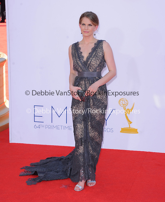 Anna Chlumsky. at The 64th Anual Primetime Emmy Awards held at Nokia Theatre L.A. Live in Los Angeles, California on September  23,2012                                                                   Copyright 2012 Hollywood Press Agency