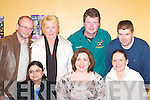 COMMUNITY: Making friends at the Milltown welcoming evening in Milltown Community Centre last Friday night. Front l-r: Nita Desai, Rosemarie Caulfield and Muire OSullivan. Back row l-r: Liam Scully, Mary Scully, Darina McCarthy and Bart OSullivan..