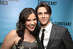 """Lindsay Mendez and Derek Klena attend the Broadway Opening Night performance after party for """"Significant Other"""" at the Redeye Grill on March 2, 2017 in New York City."""