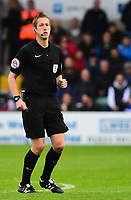 Referee John Brooks<br /> <br /> Photographer Andrew Vaughan/CameraSport<br /> <br /> The EFL Sky Bet League Two - Lincoln City v Chesterfield - Saturday 7th October 2017 - Sincil Bank - Lincoln<br /> <br /> World Copyright &copy; 2017 CameraSport. All rights reserved. 43 Linden Ave. Countesthorpe. Leicester. England. LE8 5PG - Tel: +44 (0) 116 277 4147 - admin@camerasport.com - www.camerasport.com