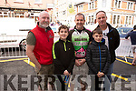 Cheering on the Killarney cycling club at the Rás Mumhan cycling in Killorglin on Easter Monday.<br /> L to r: Brendan, Brayden and Padraig Slattery, Finan and Ger Blackwell.