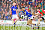 Paul Galvin Kerry in action against Kevin McLoughlin Mayo in the National Football League in Austin Stack Park on Sunday..