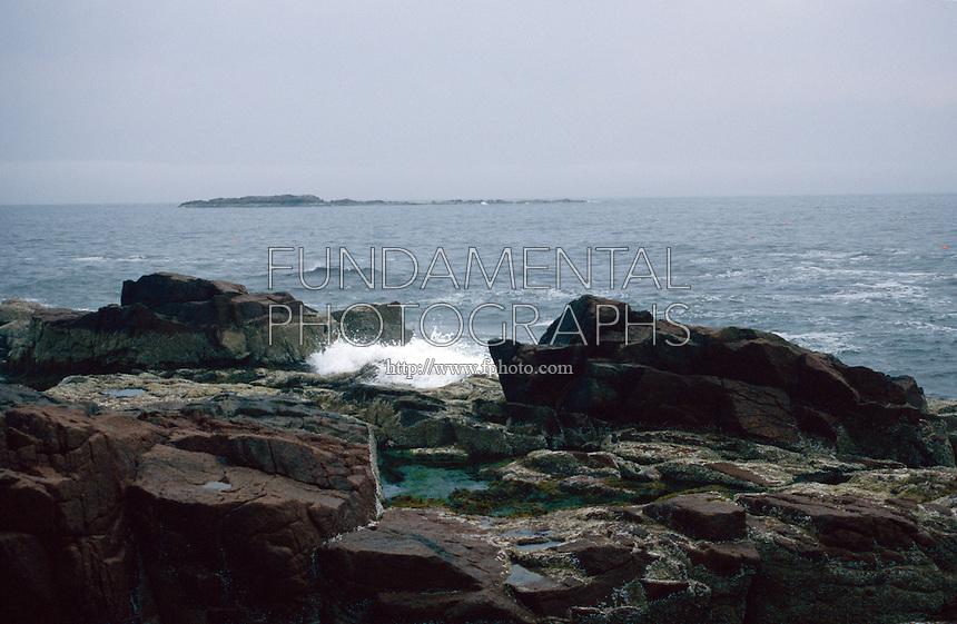 SEACOAST<br /> Small Waves Crash Against Rocks<br /> Nova Scotia