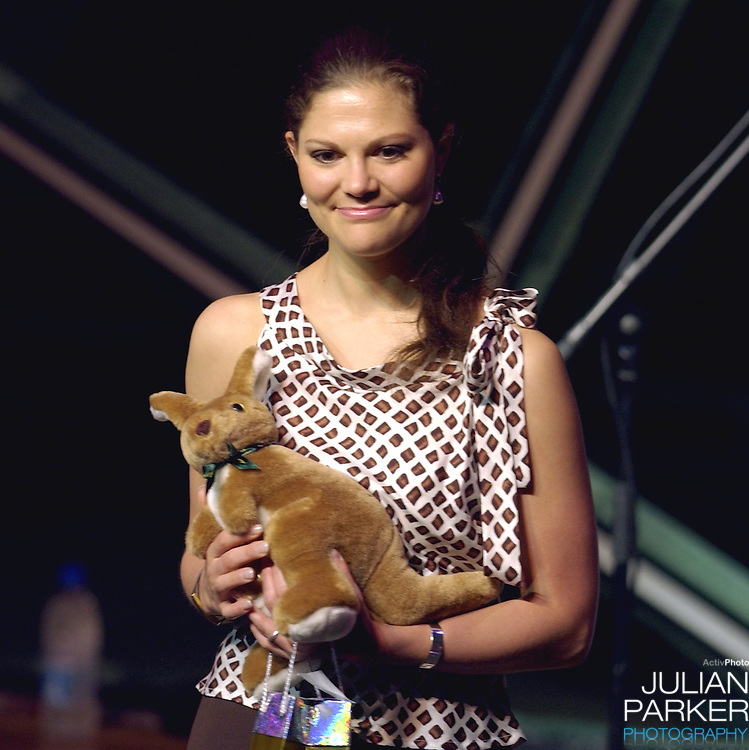 Crown Princess Victoria of Sweden attends the Rhapsody in Rock Concert at the Atrium Aphitheatre in Federation Square, Melbourne, during her visit to promote 'Swedish Style In Australia'..