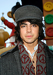Jonas Brother: Joe Jonas<br /> appearing in the 2007 Macy's Thanksgiving Day Parade, New York City.<br /> November 22, 2007