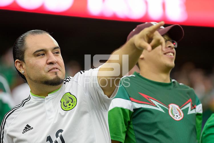 Houston, TX - Monday June 13, 2016: Fans during a Copa America Centenario Group C match between Mexico (MEX) and Venezuela (VEN) at NRG Stadium.