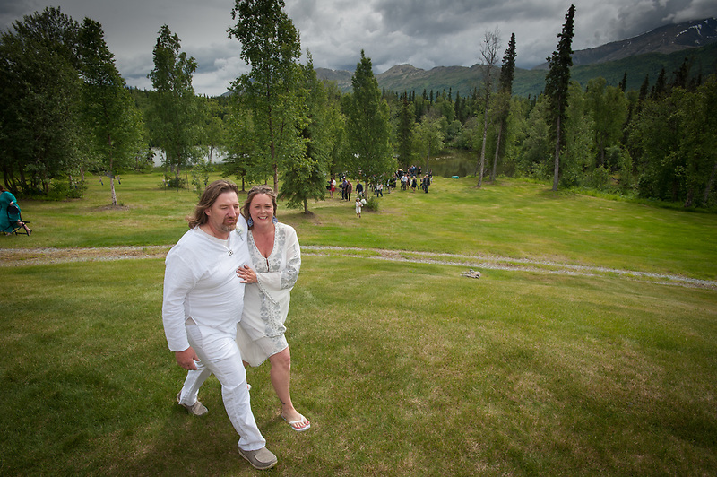 Wedding of Brandi Lttle and Bud at Eklutna July 1, 2017.