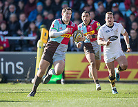 Harlequins' Tim Visser<br /> <br /> Photographer Bob Bradford/CameraSport<br /> <br /> Aviva Premiership Round 14 - Harlequins v Wasps - Sunday 11th February 2018 - Twickenham Stoop - London<br /> <br /> World Copyright &copy; 2018 CameraSport. All rights reserved. 43 Linden Ave. Countesthorpe. Leicester. England. LE8 5PG - Tel: +44 (0) 116 277 4147 - admin@camerasport.com - www.camerasport.com