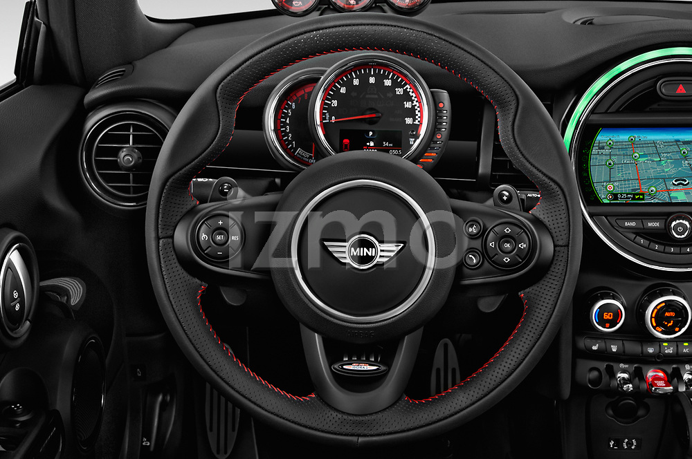 Car pictures of steering wheel view of a 2017 Mini Cooper John Cooper Works 2 Door Convertible
