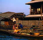 On the way to the floating vegetable market.Klongs, Bankok, Thailand