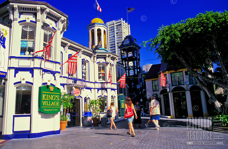 Kings Village is a popular shopping stop for visitors to downtown waikiki. The King's Guard performs here every evening at 6:00 p.m.
