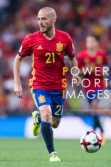 David Silva of Spain in action during their 2018 FIFA World Cup Russia Final Qualification Round 1 Group G match between Spain and Italy on 02 September 2017, at Santiago Bernabeu Stadium, in Madrid, Spain. Photo by Diego Gonzalez / Power Sport Images