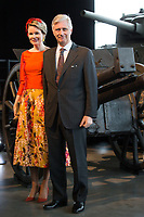 King Philippe & Queen Mathilde of Belgium on a State Visit to Canada - War Museum - Ottawa