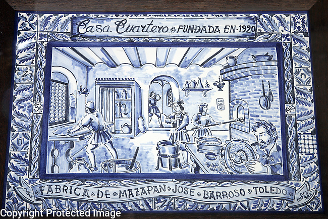 Marzipan Factory Tile Sign, Toledo, Spain