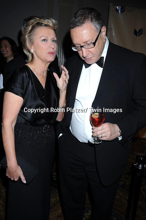 Tina Brown and Norman Pearlstine attending The 2010 National Book Awards on November 17, 2010 at Cipriani Wall Street in New York City.