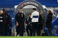 Ex Chelsea player, John Terry, currently Aston Villa's Assistant Head Coach, returns to Stamford Bridge and walks onto the pitch ahead of kick-off during Chelsea vs Aston Villa, Premier League Football at Stamford Bridge on 4th December 2019