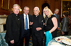 May 22, 2013; University President Emeritus Rev. Theodore M. Hesburgh, C.S.C., celebrated his 96th birthday and 70th anniversary as a priest with members of Congress during a special reception hosted by House Democratic leader Nancy Pelosi. Photo by Barbara Johnston/University of Notre Dame