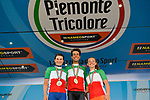 The Italian National Champions 2017 Fabio Aru, Elisa Longo Borghini, and Paternoster, running from Asti to Ivrea, Piemonte, Italy. 25/06/2017.<br /> Picture: Foto LaPresse/Marco Alpozzi | Cyclefile<br /> <br /> <br /> All photos usage must carry mandatory copyright credit (&copy; Cyclefile | LaPresse/Marco Alpozzi)