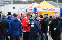 Lincoln City fans enjoy the pre-match atmosphere in the fan zone<br /> <br /> Photographer Chris Vaughan/CameraSport<br /> <br /> The Emirates FA Cup Second Round - Lincoln City v Carlisle United - Saturday 1st December 2018 - Sincil Bank - Lincoln<br />  <br /> World Copyright © 2018 CameraSport. All rights reserved. 43 Linden Ave. Countesthorpe. Leicester. England. LE8 5PG - Tel: +44 (0) 116 277 4147 - admin@camerasport.com - www.camerasport.com