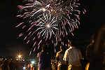 A crowd enjoyed he Fireworks at Randolph High School during the annual Night Before the 4th parade in Randolph on Sunday July 3; 2016.(Photo by Gary Wilcox)