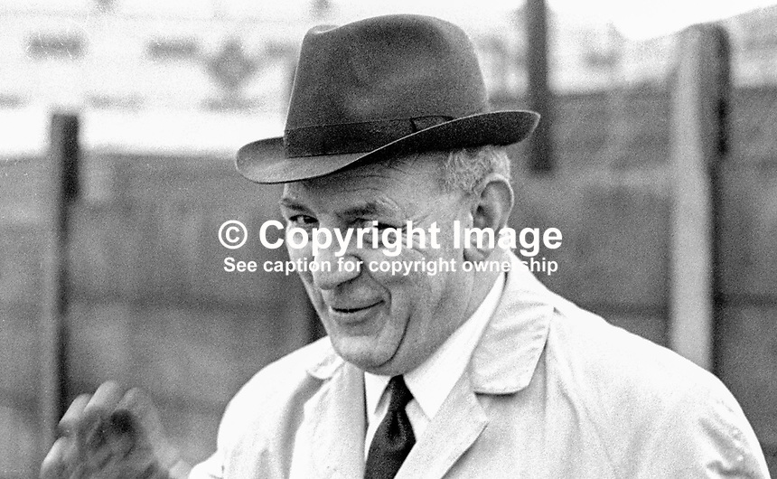District Inspector Ross McGimpsey, RUC, N Ireland, who was involved in the policing of a banned civil rights march in Duke Street, Londonderry, on 5th October 1968, which turned out to be a key event in the N Ireland Troubles because television pictures went of it viral. 197001160025a<br /> <br /> Copyright Image from Victor Patterson, 54 Dorchester Park, Belfast, United Kingdom, UK.  Tel: +44 28 90661296; Mobile: +44 7802 353836; Voicemail: +44 20 88167153;  Email1: victorpatterson@me.com; Email2: victor@victorpatterson.com<br /> <br /> For my Terms and Conditions of Use go to http://www.victorpatterson.com/Terms_%26_Conditions.html