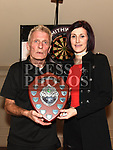 Ollie Thompson and Elaine Thornton organisers of the Jillian Thornton Memorial darts tournament held in the Thatch. Photo:Colin Bell/pressphotos.ie
