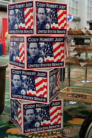 cody judy campaign sign at democratic convention<br />
