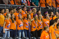 September 12, 2014, Netherlands, Amsterdam, Ziggo Dome, Davis Cup Netherlands-Croatia, Presentation, Dutch Supporters<br /> Photo: Tennisimages/Henk Koster