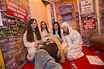 Skills Active Cymru<br /> Students Amelia Stephenson, Izzy Campbell, Alice Owen &amp; Rhian Evans from Ysgol Gufun Emlyn.<br /> Cardiff International Arena<br /> 23.10.14<br /> &copy;Steve Pope-FOTOWALES