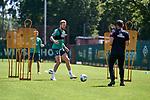 24.06.2020, Trainingsgelaende am wohninvest WESERSTADION,, Bremen, GER, 1.FBL, Werder Bremen Training, im Bild<br /> <br /> Kevin Vogt (SV Werder Bremen #3), Mitte, am Ball bei einer individuellen Einheit mit Marcel Abanoz (Reha-Trainer SV Werder Bremen), rechts, Johannes Eggestein (SV Werder Bremen #24) im Hintergrund<br /> <br /> <br /> <br /> Foto © Gumz/gumzmedia/nordphoto