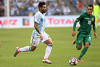 Seattle, WA - Tuesday June 14, 2016: Ezequiel Lavezzi during a Copa America Centenario Group D match between Argentina (ARG) and Bolivia (BOL) at CenturyLink Field.