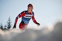 1st January 2020, Toblach, South Tyrol , Italy;  Ivan Yakimushkin of Russia competes in the mens 15 km classic technique pursuit during Tour de Ski on January 1, 2020 in Toblach.