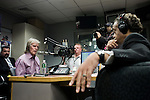 "Monday, April 9,  2007, New York, New York..Controversial radio talk show host Don Imus, went on the Al Sharpton radio show to discuss Imus' comments about the Rutger's women's basketball team. Imus referred to the players as ""nappy headed ho's"" spurring accusations of racism which led to his dismissal from CBS radio.. Imus and Sharpton square off about the situation and Imus' comments."