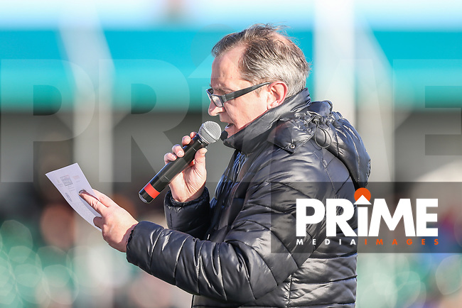 Media Manager, Neil Reynolds during the Betfred Super League match between London Broncos and Wakefield Trinity at Castle Bar , West Ealing , England on 3 February 2019. Photo by David Horn.