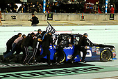 #16: Brett Moffitt, Hattori Racing Enterprises, Toyota Tundra AISIN Group crew push starts the winning truck