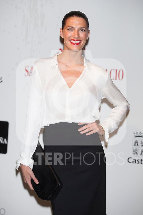 Model Laura Sanchez attends Santiago Palacio´s fashion show in Madrid, Spain. November 13, 2014. (ALTERPHOTOS/Victor Blanco)